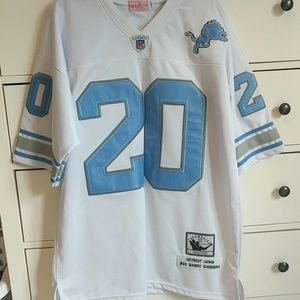 Mitchell and Ness Throwback Barry Sanders Jersey